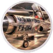 Lockheed F-94 Model C Starfire Round Beach Towel