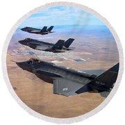 Lockheed Martin F-35 Lightning II Round Beach Towel