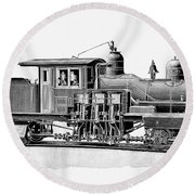 Locomotive, 1893 Round Beach Towel