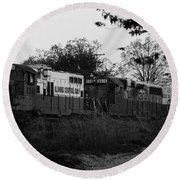 Locomotive 8241 Round Beach Towel