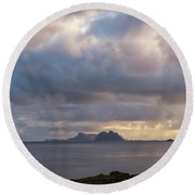 Lofoten Sunset 4 Round Beach Towel