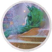 Logan Circle Fountain 5 Round Beach Towel