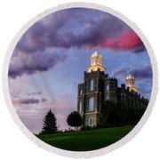 Logan Temple Heaven's Light Round Beach Towel