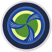 logo for TRAG Round Beach Towel