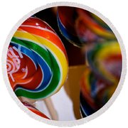 Lollipops Round Beach Towel