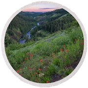 Lolo Creek Spring Round Beach Towel