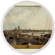 London 1802 Round Beach Towel