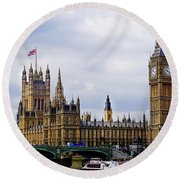 London 4 Round Beach Towel