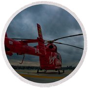 London Air Ambulance Round Beach Towel