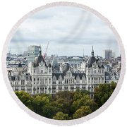 London Along The River Thames Round Beach Towel