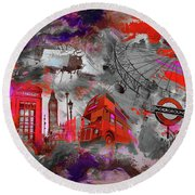 London Art 56 Round Beach Towel
