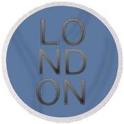 London Round Beach Towel