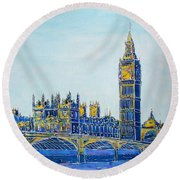 London City Westminster Round Beach Towel