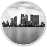 London Docklands Round Beach Towel