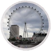 London Eye View Round Beach Towel