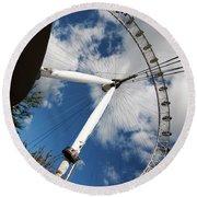 London Ferris Wheel Round Beach Towel