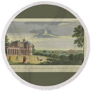 London Magazine, London South East View Of Gloucester Lodge In Windsor Great Park Published Aug 1780 Round Beach Towel