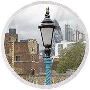 London Old And New Round Beach Towel