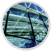 London Sky Garden Architecture 1 Round Beach Towel