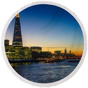 London South Bank 3 Round Beach Towel