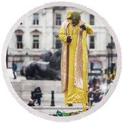 London Street Artists 4 Round Beach Towel
