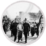 London Suffragettes, 1914 Round Beach Towel