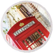 London Telephone 3 Round Beach Towel