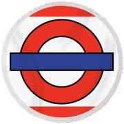 London Underground Blank Round Beach Towel