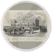 London Windsor Castle East Terrace, The Queen's Private Apartments Round Beach Towel