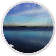 Lone Ice Round Beach Towel