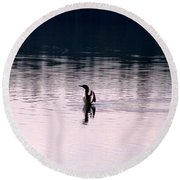 Lone Loon Round Beach Towel