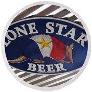Lone Star Beer Round Beach Towel