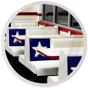 Lone Star Dairy Queen Round Beach Towel