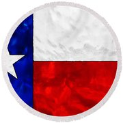 Lone Star Stained Glass Round Beach Towel