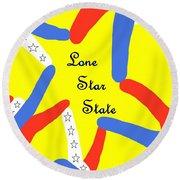 Lone Star State Round Beach Towel