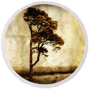 Lone Tree Round Beach Towel by Julie Hamilton