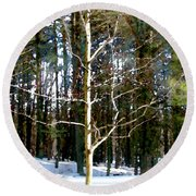 Lone Tree Round Beach Towel