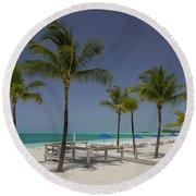 Lonely Beach Round Beach Towel