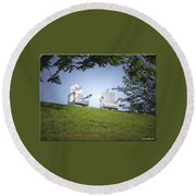Lonely Companions Round Beach Towel