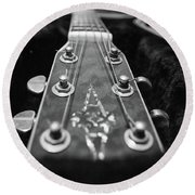 Lonely Guitar Round Beach Towel