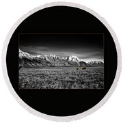 Lonely Homestead Round Beach Towel