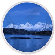 Lonely Lighthouse Round Beach Towel