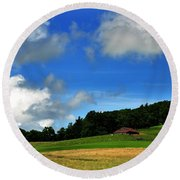 Lonely Meadow Round Beach Towel