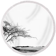 Lonely.. Round Beach Towel