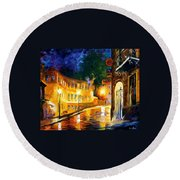 Lonely Night Round Beach Towel