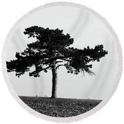 Lonely Pine Round Beach Towel