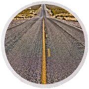 Lonely Road #2 Round Beach Towel