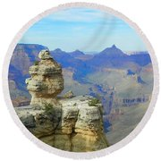 Lonely Rock Round Beach Towel