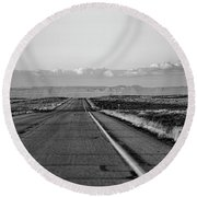 Lonely Route 24 Round Beach Towel