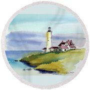 Lonely Sentinel Round Beach Towel